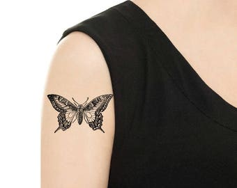 TEMPORARY TATTOO - Vintage Butterfly - Various Patterns