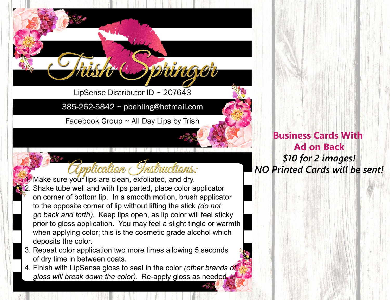 digital images lipsense business cards. Black Bedroom Furniture Sets. Home Design Ideas