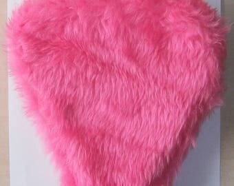 Bicycle Saddle Cover - Pink Fur - Fluffy - Childs