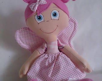 Doll fairy Lilly, handmade doll, 43 cm
