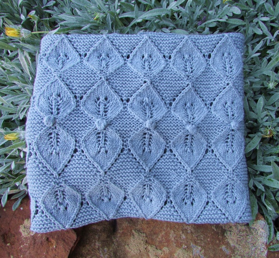 Vogue Knitting Leaf Blanket Pattern : READY TO SHIP Knit Baby Blanket Fairy Leaves Baby Blanket
