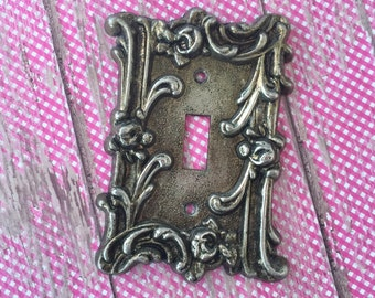 Switch Plate Mid-Century Regency Single Toggle Edmar P3068 Metal Switch Plate Free Shipping