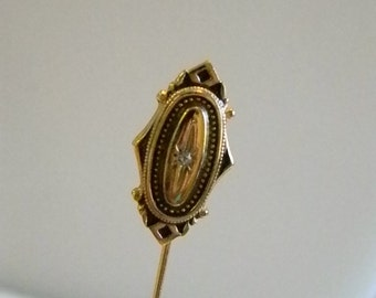 Gold Tone Faux Diamond Avon Stick Pin
