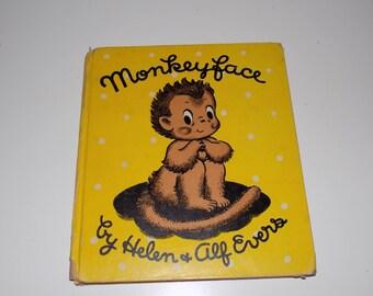 Vintage Monkeyface 1946 Hardback Book Helen & Alf Evers