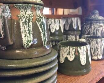 Japanese Anagama ash fired Tea set