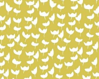 Lilla Emmi Citron - Hemma - Lotta Jansdotter - Windham Fabrics yellow leaf Fat Quarters 100% cotton quilting dressmaking floral UK Shop