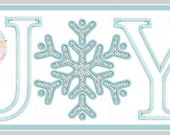 JOY Appliue Design- JOY Embroidery Design- Motif- Christmas Design-JOY- Machine Embroidery- Thankful- Digitized Design- Embroidery- Applique