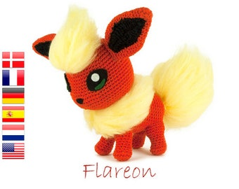 Crochet pattern Flareon (Pokemon)