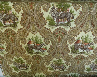 "P.Kaufmann ""EQUINOX"" Khaki  EQUESTRIAN TOILE  Cotton, Sold by the yard"