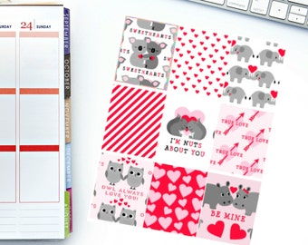 Sweetheart Full Box Planner Stickers! Perfect for your Erin Condren Life Planner, calendar, Paper Plum, Filofax!