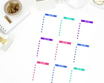 Bills Due Stickers! Perfect for your Erin Condren Life Planner, calendar, Paper Plum, Filofax!