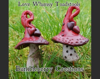 Love heart Whimsy Toadstool.