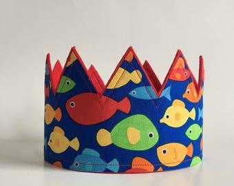 Under the Sea Crown, Boys Birthday Crown, Under the Sea Photo Shoot Prop, Birthday Hats, Under the Sea Decor, Smash Cake Crown, Smash Hat