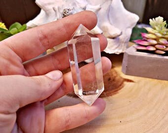 Double Terminated Quartz Crystal Point