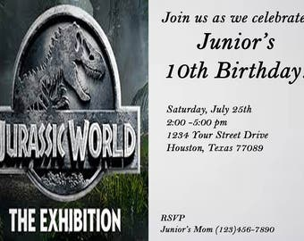 jurassic world digital invitation