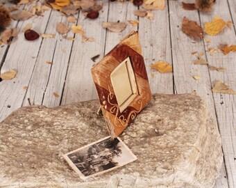 Picture frame - Vintage picture frame - Photo frame - Wedding photo frame - Tabletop Picture Frame - Handmade photo frame - Brown frame