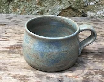 Hand thrown stoneware mug #12