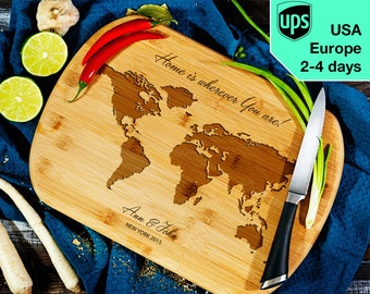 World - Personalized Cutting Board