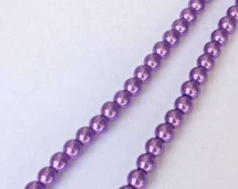 Purple Simulated Pearl Necklace ON SALE