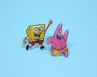 Spongebob Squarepants - Patrick Star - Earrings