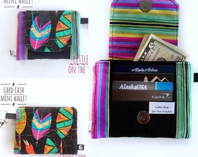 Card Cash Mini Wallet - Pocket Wallet - On The Go Wallet