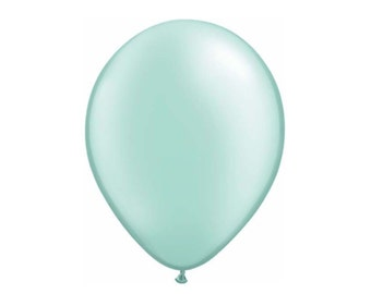 "Mint Green Balloons Latex Made in USA Tiny Big Balloon Wedding bridal party  shower baby 5"" 11"" 16"" Pearl Mint Balloon"