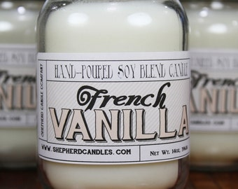 Vanilla Candle, French Vanilla Soy Candle, Soy Candles Handmade, Vanilla, Scented Candle