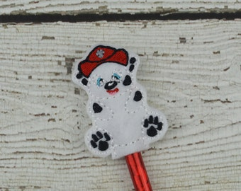 Marshall Pencil Toppers - Paw Patrol Inspired - Party Favor - Valentine - Small Gift - Back to School