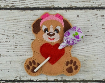 Skye Sucker Holder - Paw Patrol Inspired - Small Gift - Class Gift - Valentine's Day - Lollipop Holder - Party Favor - Thank You Gift