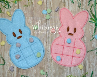 Bunny Tic Tac Toe, Tic Tac Toe, Bunny, Easter Gift, Puzzle, Felt, Easter Gift, Easter Basket, Felt Toy, Early Learning, Easter Gift For kids