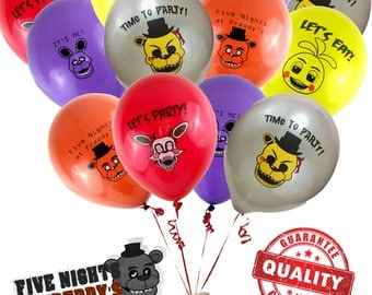 20 Count Five Nights at Freddys FNAF Brithday Party Supplies Balloons - Great for Decorations of Photo Booths or Banner Cake with Topper