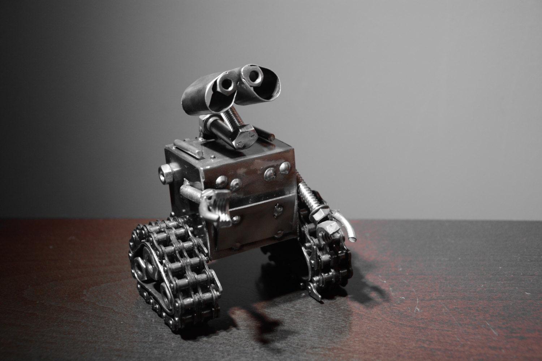 Robot Wlle Sculpture Scrap Metal Art Recycled Handmade