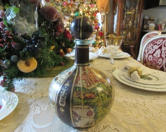 ITALY LEATHER DECANTER