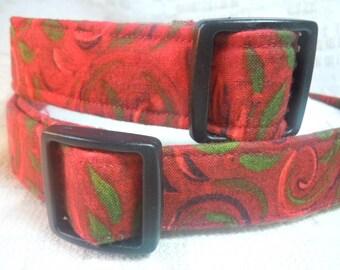 Large Dog Collar / Red Dog Collar /  Sale Dog Collar /  On Sale Dog Collar