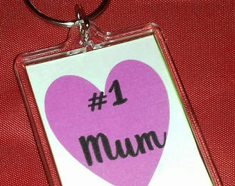 Number One Mum, Number One Nan, Number One Gran Keyring, Small Gift For Her, Ladies Keychain, Mum's Birthday, Nan Gran Birthday Gift,
