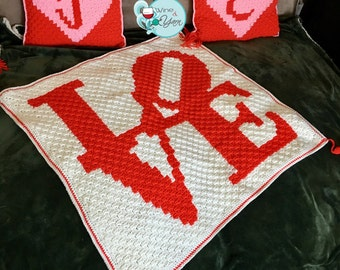 Love Sign baby blanket or lap throw