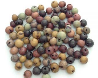 Acai Acai beads, winter mix, 6-14 mm, 100 pieces, Azaiperlen, beads, natural beads, acai mix