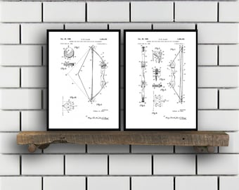 Archery Patent, Archery poster Set of TWO, bow and arrow Invention Patent, arrow Poster, bow Print, archery Inventions, SP227
