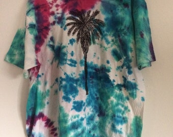 Tie Dye Palm Tree T-Shirt