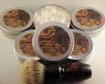 AUTUMN SPICE Luxury Tallow & Shea Butter Seasonal Shaving Soap