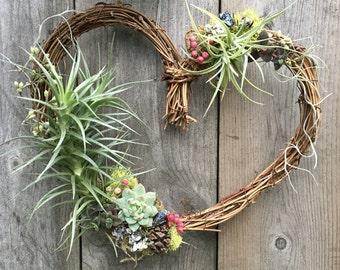 Air Plant Heart Wreath
