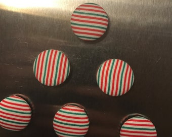 Round, Button Magnets--SET of 6