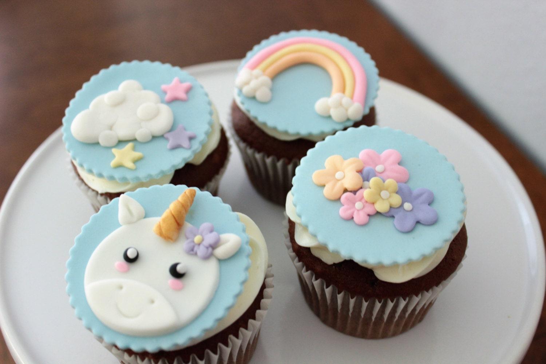Unicorn Cupcake And Cake Decorations
