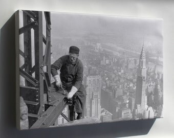 Canvas 24x36; Steel Worker Empire State Building C1930