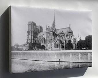 Canvas 24x36; France, Notre Dame Cathedral, Paris. 1916