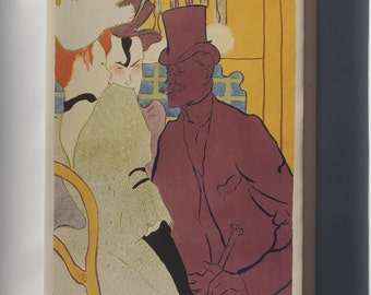 Canvas 16x24; Henri De Toulouse Lautrec, French Flirt An Englishman At The Moulin Rouge