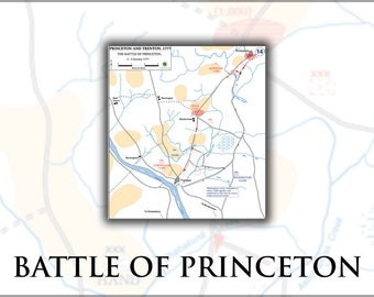 16x24 Poster; Battle Of Princeton Map, 2–3 January 1777 General George Washington