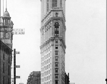 16x24 Poster; One Times Square Building Flatiron Building P3