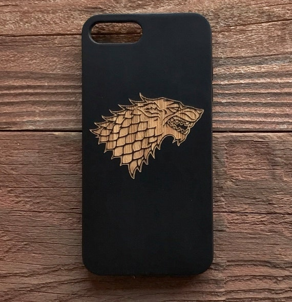 Game of Thrones Wood iPhone 6 7 Phone Case Stark Dire Wolf