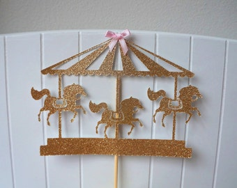 Carousel Merry Go Round Cake Topper